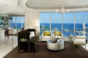 Ovation's Grand Salon Overlooking St, Petersburg's Waterfront